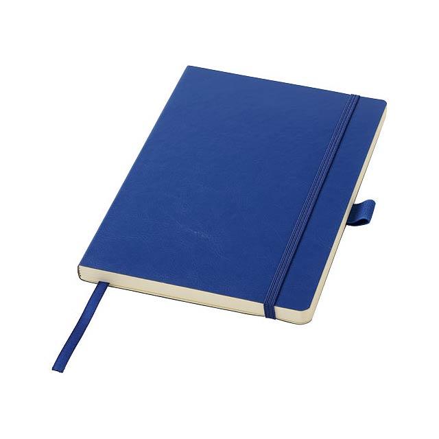 A5 Zápisník z PU kůže Robusta - modrá