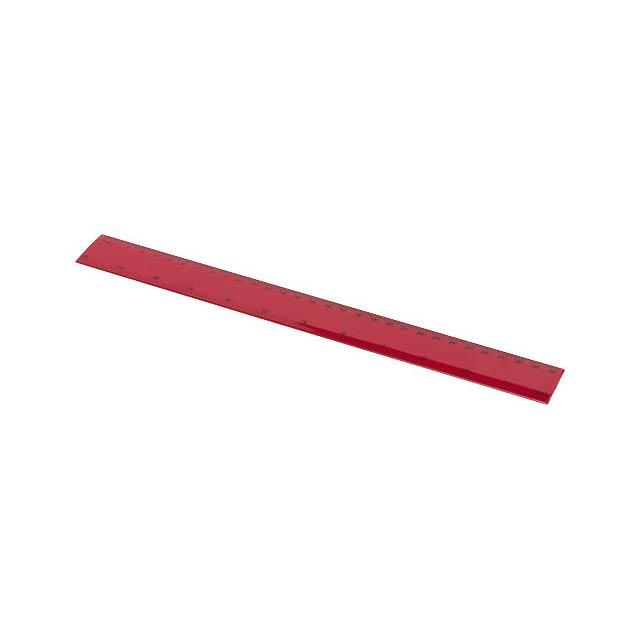 Pravítko Ruly 30 cm - transparentní červená