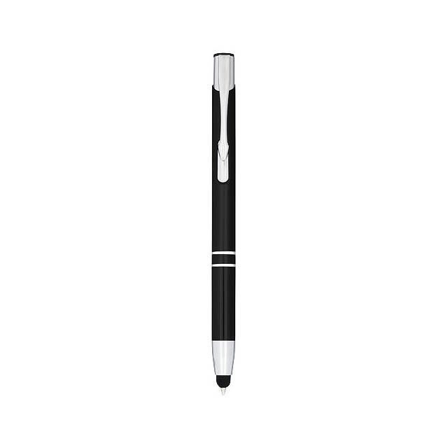 Kuličkové pero Moneta s kovovým úchopem - černá