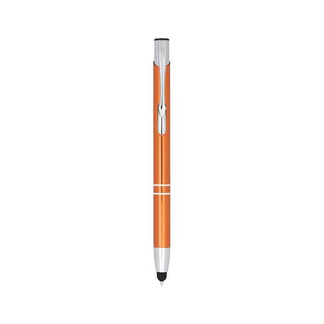 Kuličkové pero Moneta s kovovým úchopem - oranžová