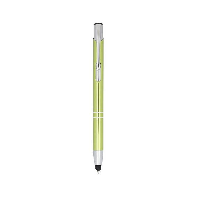Kuličkové pero Moneta s kovovým úchopem - citrónová - limetková