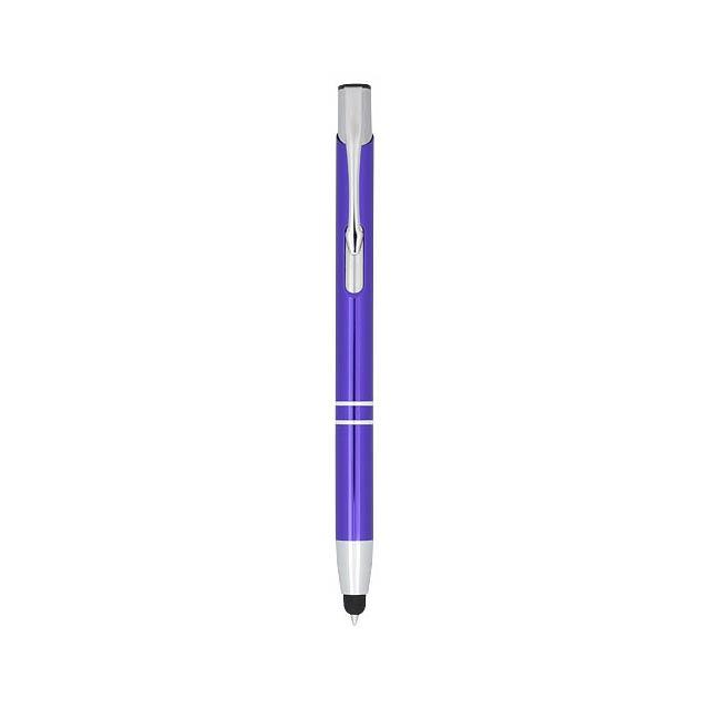 Kuličkové pero Moneta s kovovým úchopem - fialová
