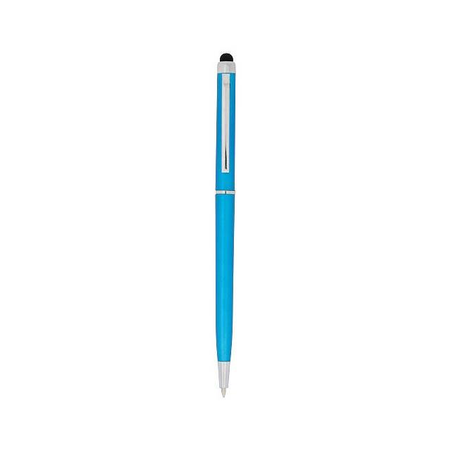 Kuličkové pero a stylus Valeria z ABS plastu - modrá