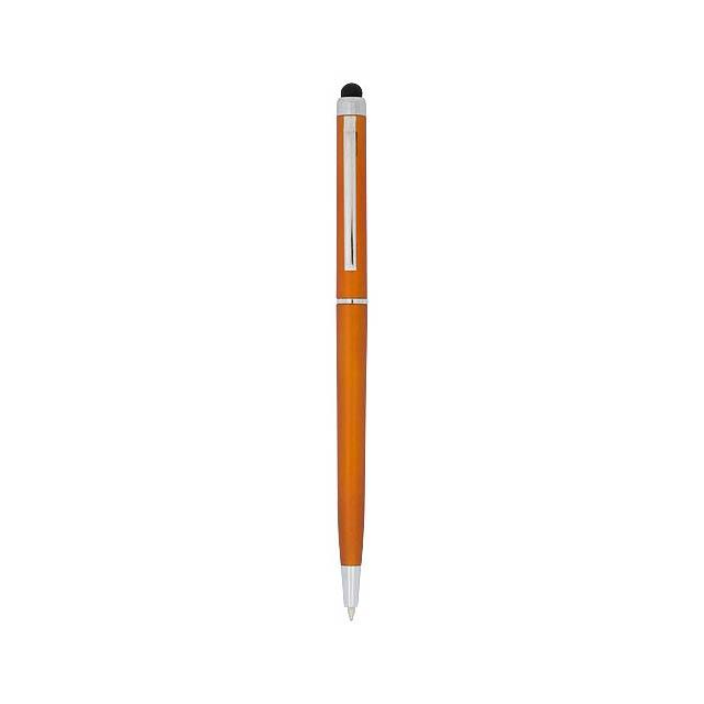 Kuličkové pero a stylus Valeria z ABS plastu - oranžová