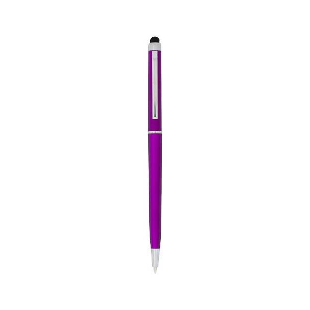 Kuličkové pero a stylus Valeria z ABS plastu - růžová