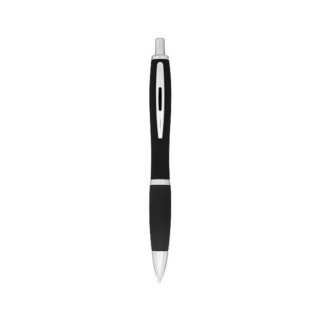 Kuličkové pero Nash, pogumované - černá