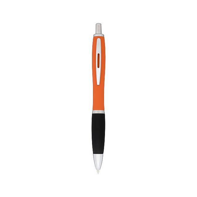 Kuličkové pero Nash, pogumované - oranžová