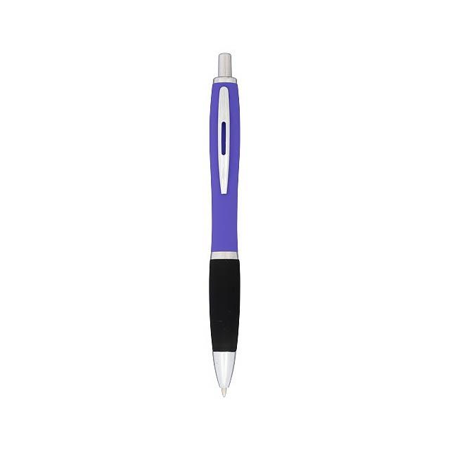 Kuličkové pero Nash, pogumované - fialová