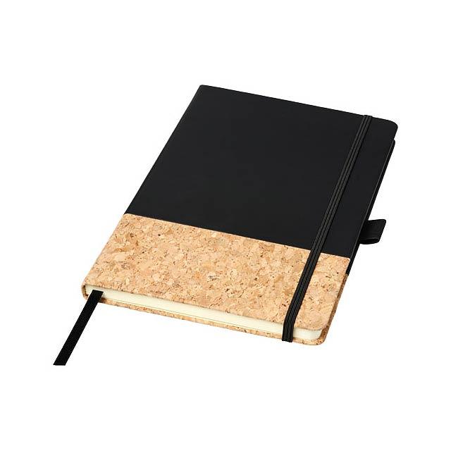 Zápisník Evora A5 z korku a materiálu Thermo PU - černá