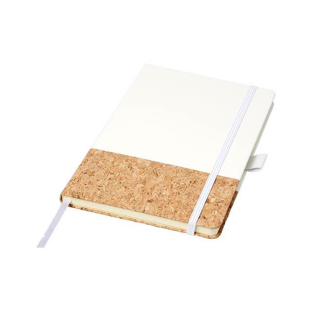 Zápisník Evora A5 z korku a materiálu Thermo PU - bílá