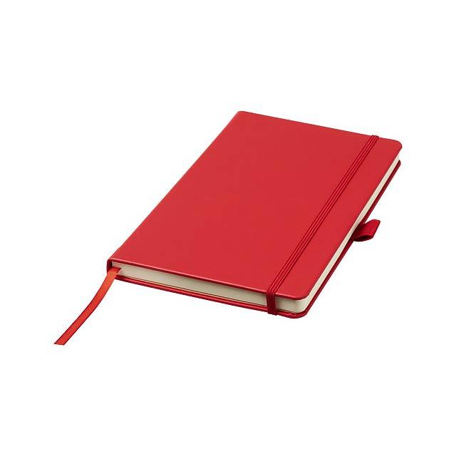 Vázaný poznámkový blok A5 Nova - transparentní červená