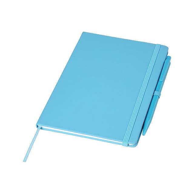 Zápisník Prime střední velikosti s perem - nebesky modrá