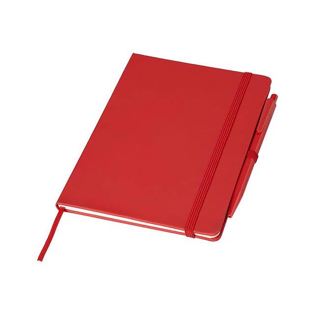 Zápisník Prime střední velikosti s perem - transparentní červená