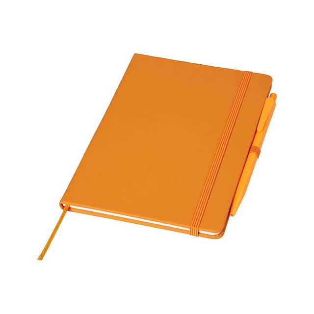 Zápisník Prime střední velikosti s perem - oranžová