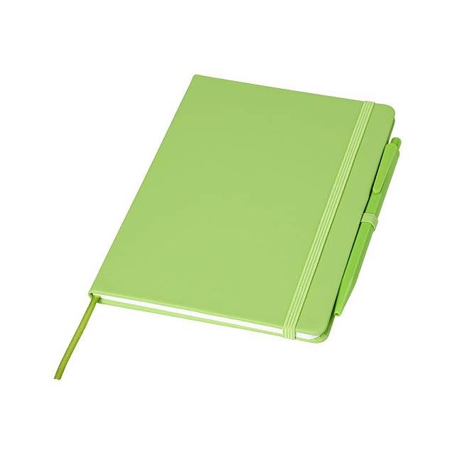Zápisník Prime střední velikosti s perem - citrónová - limetková