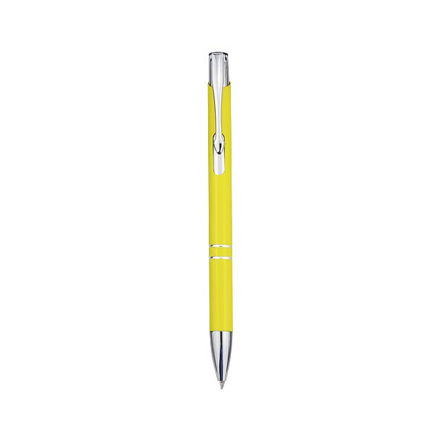 Moneta Druckkugelschreiber aus Aluminium - Gelb