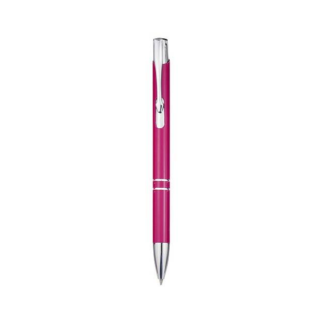 Kuličkové pero Moneta - fuchsiová (tm. růžová)