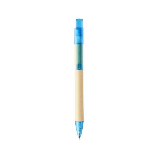 Safi papírové kuličkové pero - modrá