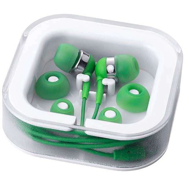 farebná slúchadlá - zelená