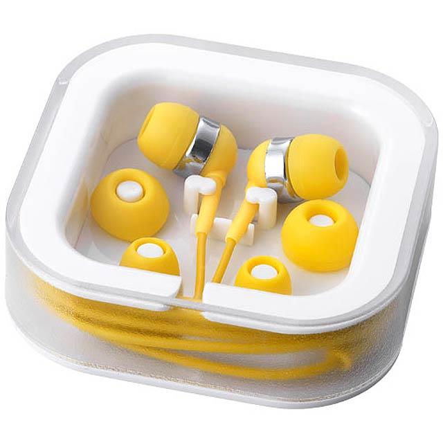 farebná slúchadlá - žltá