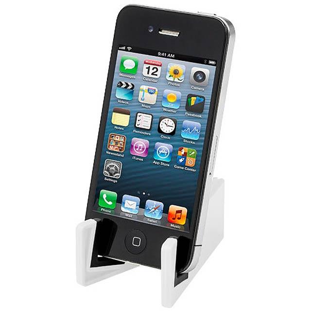 Stojánek na mobil - bílá