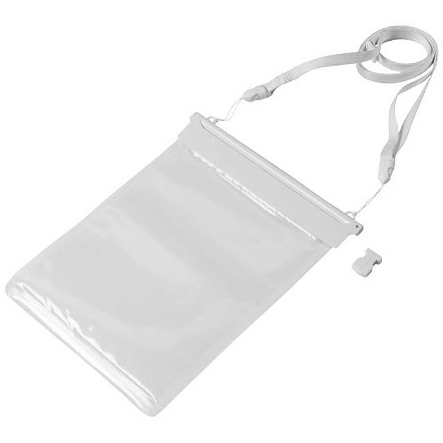 Vodotěsný obal Splash na mini tablet - bílá