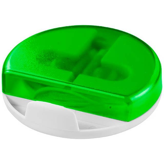 Stojánek na chytrý telefon Storm se sluchátky - transparentná zelená