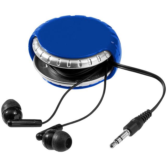 Sluchátka Windi a schránka na kabel - kráľovsky modrá