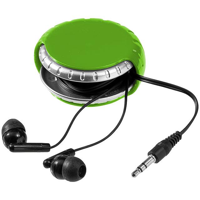 Sluchátka Windi a schránka na kabel - zelená