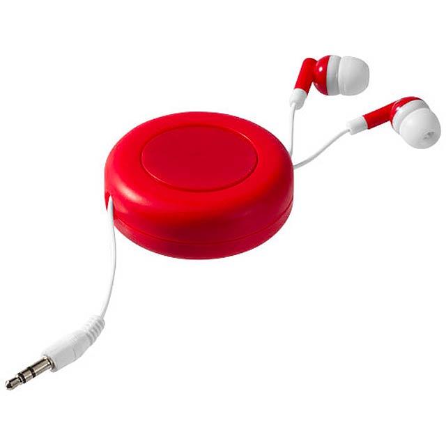 Samonavíjecí sluchátka Reely - červená