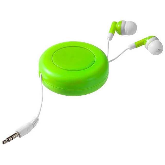 Samonavíjecí sluchátka Reely - citrónová - limetková