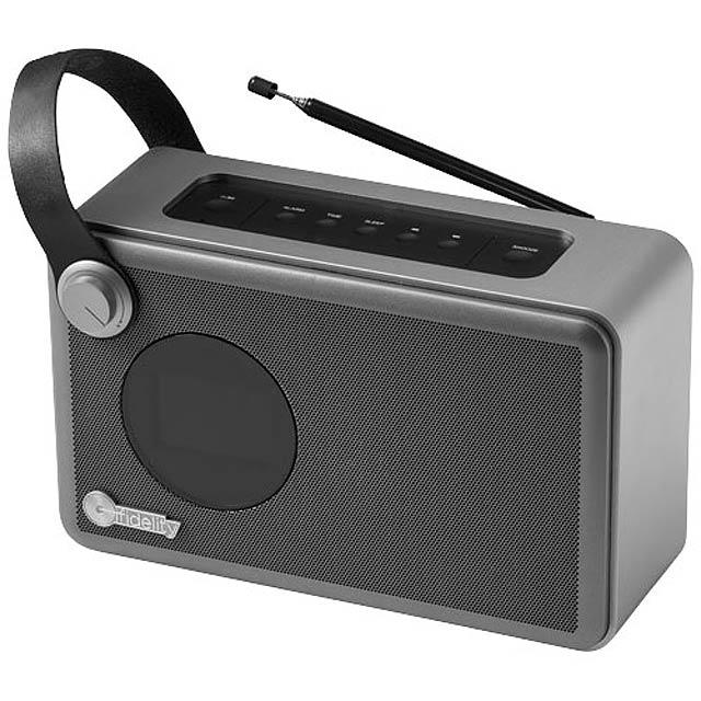 Radiobudík Whirl - strieborná