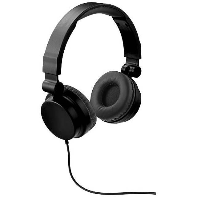 Skládací sluchátka Rally - černá