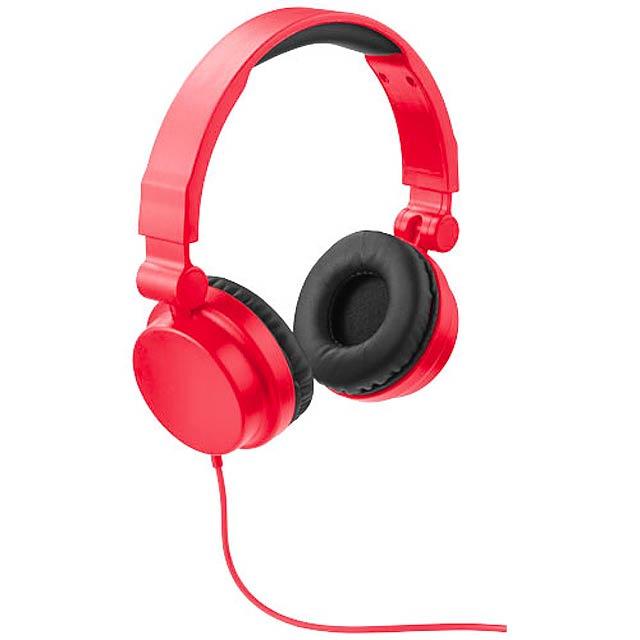 Skládací sluchátka Rally - červená