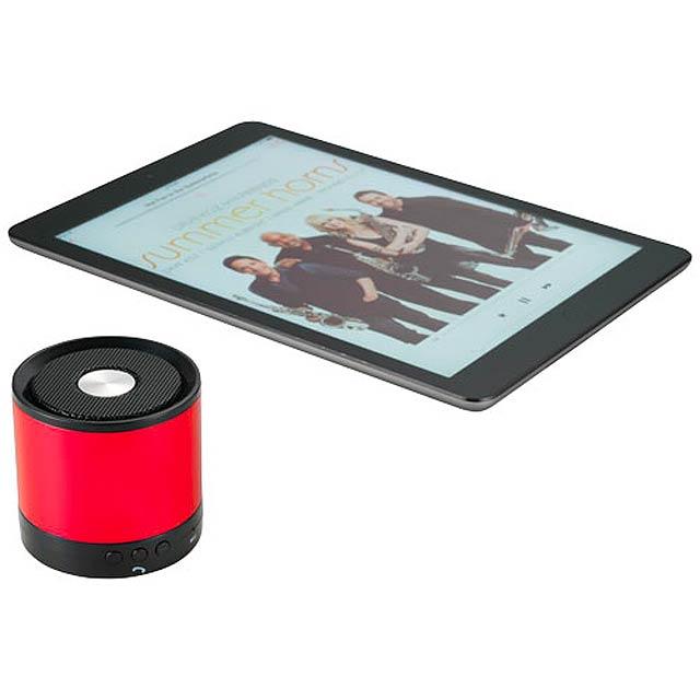 Hliníkový reproduktor Bluetooth® Greedo - červená
