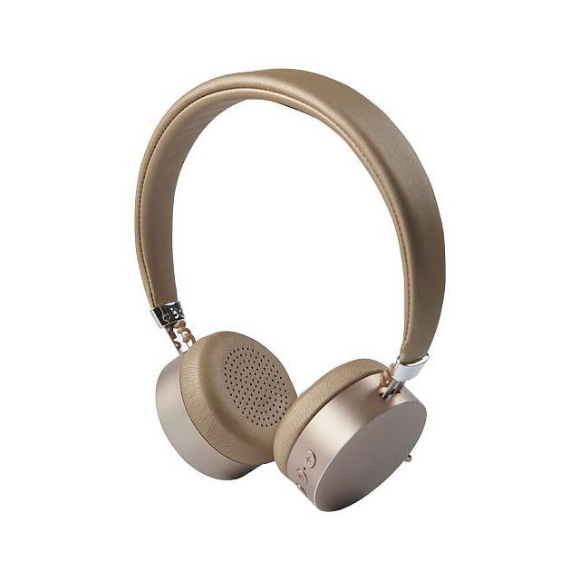 Kovová Bluetooth® sluchátka Millennial - zlatá