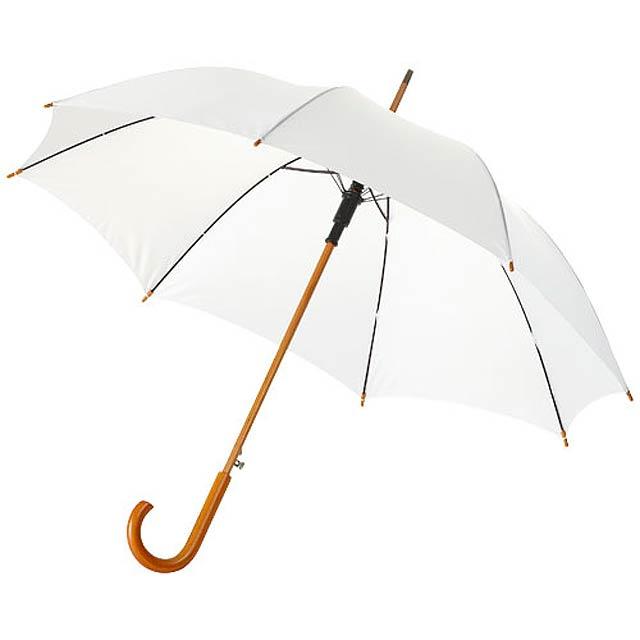 """23"""" deštník Kyle s automatickým otvíráním a dřevěnou tyčí a  - bílá"""