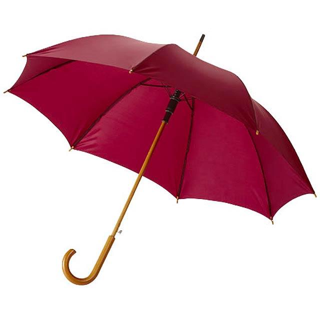 """23"""" deštník Kyle s automatickým otvíráním a dřevěnou tyčí a  - červená"""