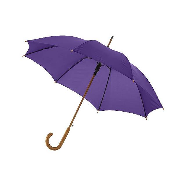 """23"""" deštník Kyle s automatickým otvíráním a dřevěnou tyčí a  - fialová"""