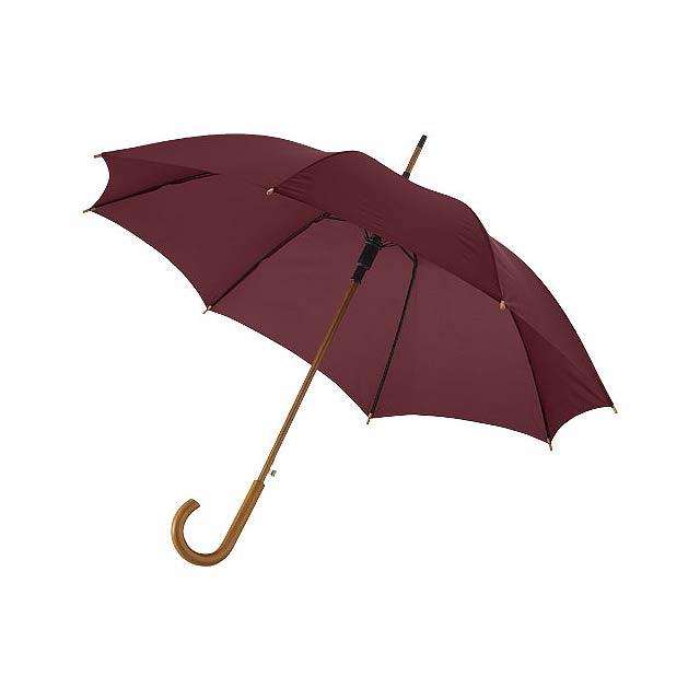 """23"""" deštník Kyle s automatickým otvíráním a dřevěnou tyčí a  - hnědá"""
