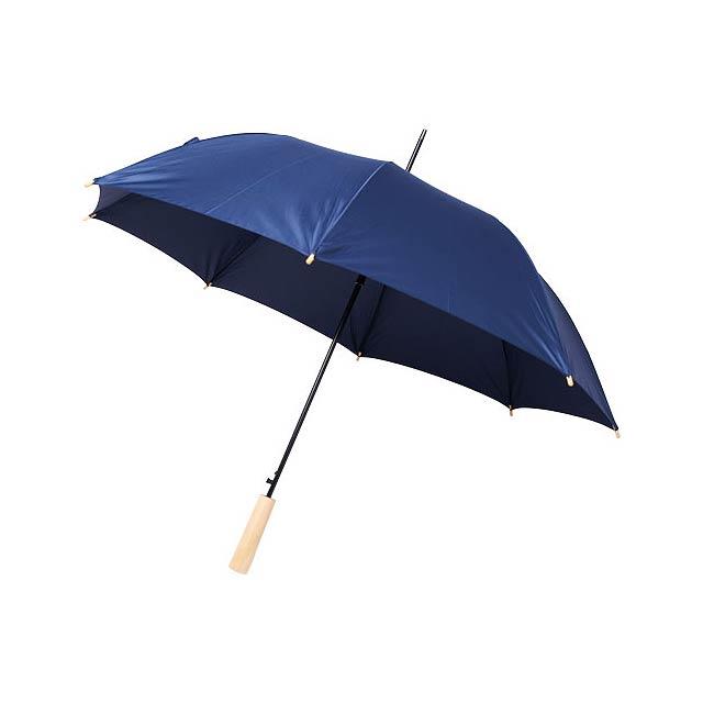 Deštník z recyklovaného PET s automatickým otevíráním Alina  - modrá