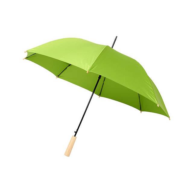 Deštník z recyklovaného PET s automatickým otevíráním Alina  - citrónová - limetková