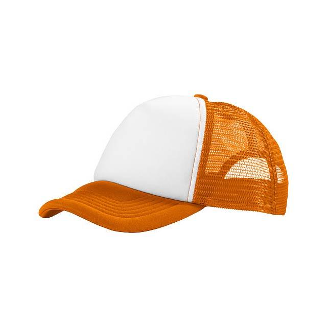 Kšiltovka Trucker s 5 panely - oranžová