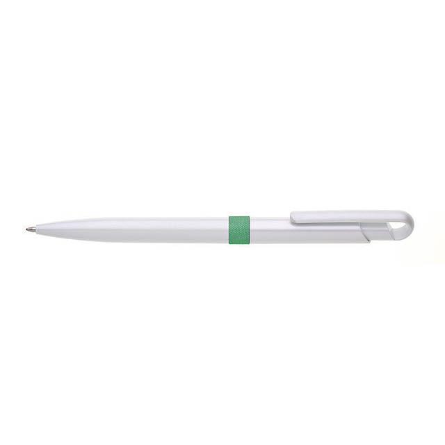 PERLA plastové kuličkové pero - zelená