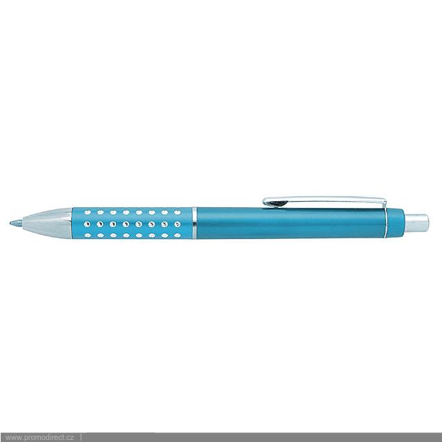 BLERA plastové kuličkové pero - tyrkysová