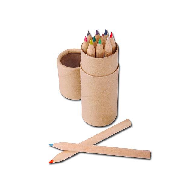 REMBRANDT - sada dřevěných pastelek, 12 ks - hnědá