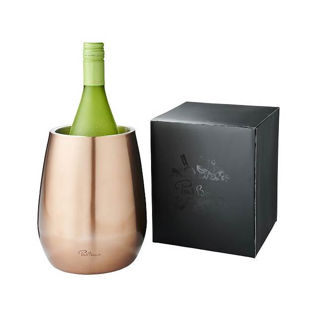 Chladicí nádoba na víno Coulan s dvojitou stěnou z nerezové  - bronzová