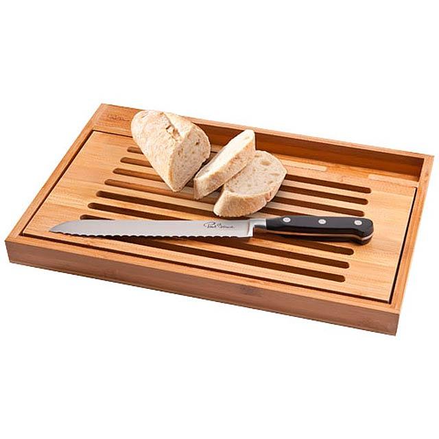 Krájecí prkénko Bistro s nožem na chléb - dřevo