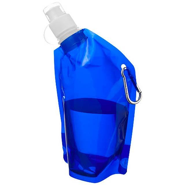 Mini láhev na vodu s karabinou - modrá