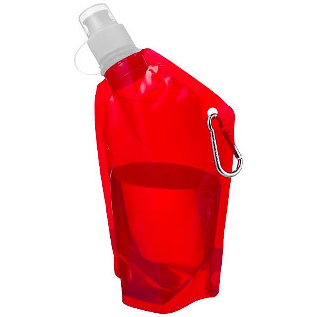 Mini láhev na vodu s karabinou - červená